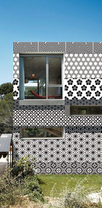 Wall & Deco - Décor papier extérieur Tokyo Stripes