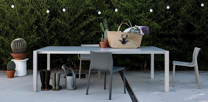 Kristalia - table Sushi et chaises LP