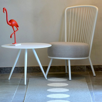 Fauteuil Betty et Table Swan