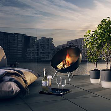Brasero Fire Globe
