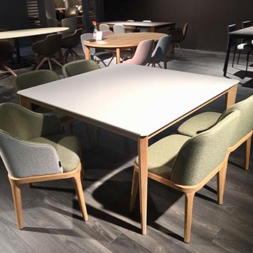 Table Tai-ga et fauteuil et chaises Damblé